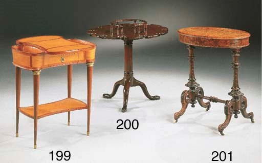 TABLE TRAVAILLEUSE ANGLAISE D'