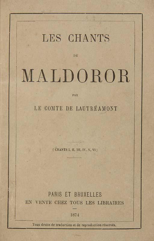 LAUTRÉAMONT, comte de (pseud.