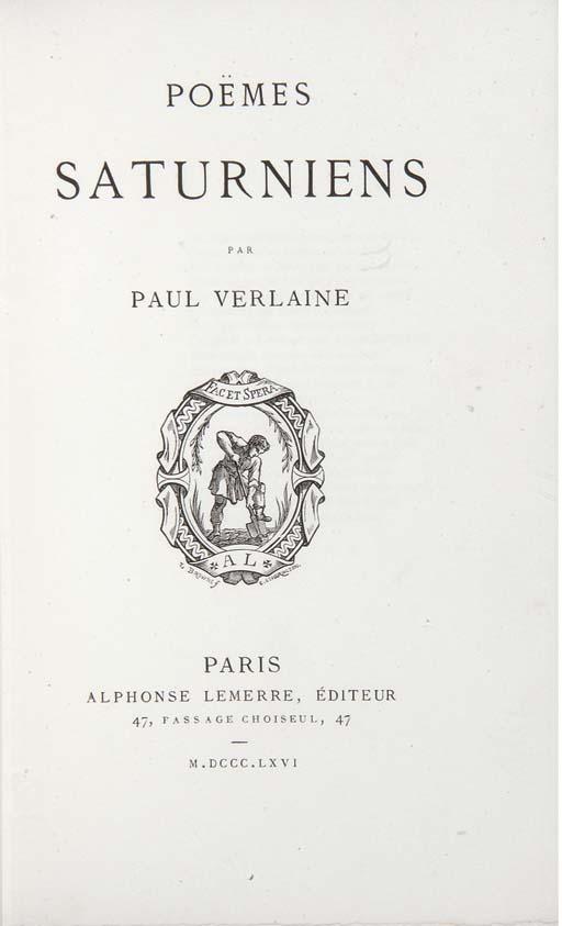 VERLAINE, Paul (1844-1896). Po