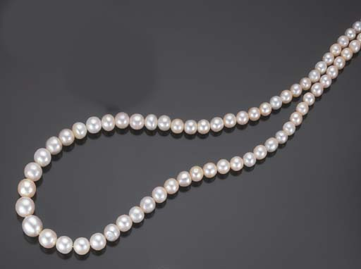 COLLIER DE PERLES FINES