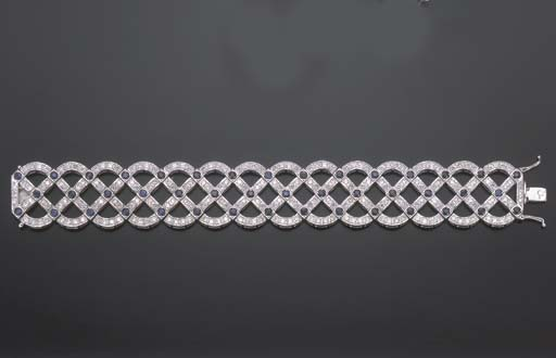 BRACELET SAPHIRS ET DIAMANTS