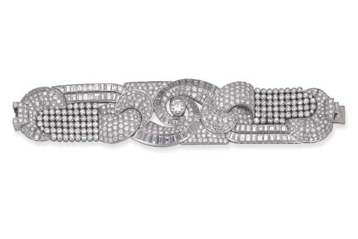 IMPORTANT BRACELET ART DECO DI