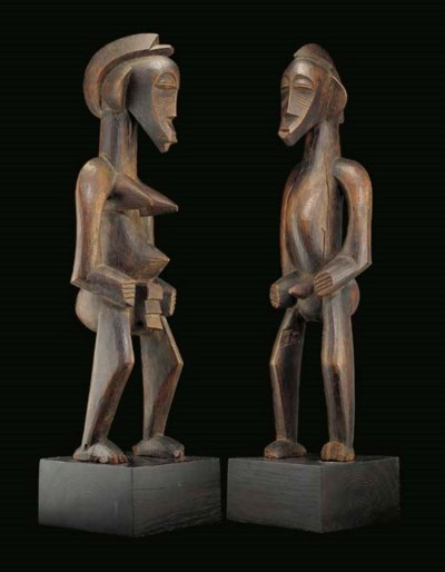 COUPLE DE STATUES SENOUFO