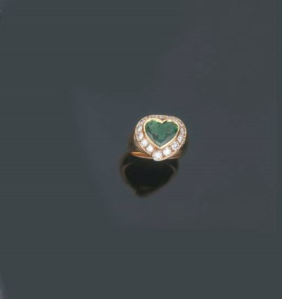 Anello con smeraldo e brillant