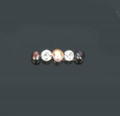 Spilla barrette in perle colti