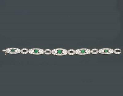 Bracciale Art Déco in smeraldi