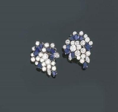 Paio di orecchini in diamanti