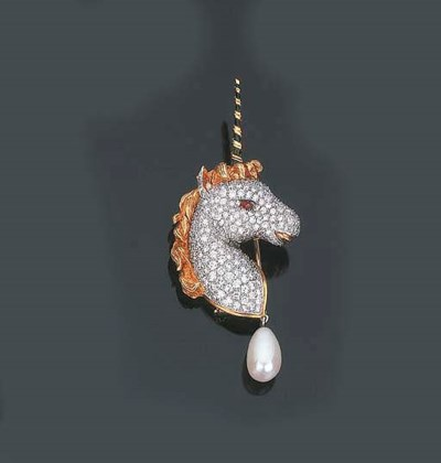 Clip in brillanti e perla colt