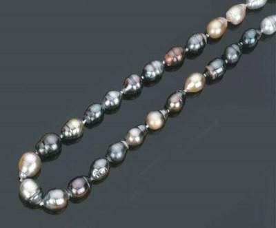 Collana in perle coltivate bar