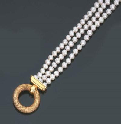 Collana in perle coltivate e o
