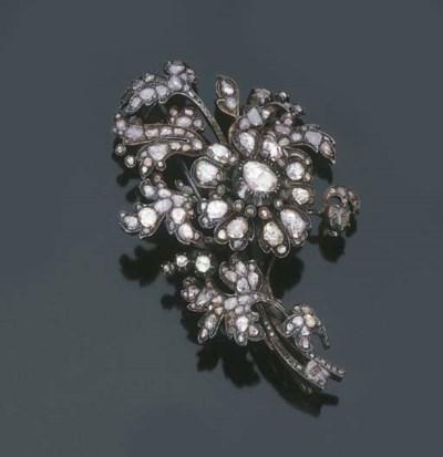 Antica spilla in diamanti