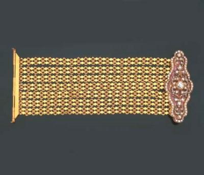 Antico bracciale in oro, smalt