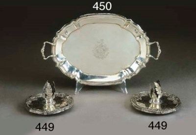 Vassoio con manici argento, Bo