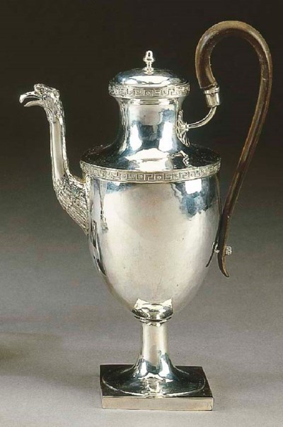 Caffettiera in argento, Roma