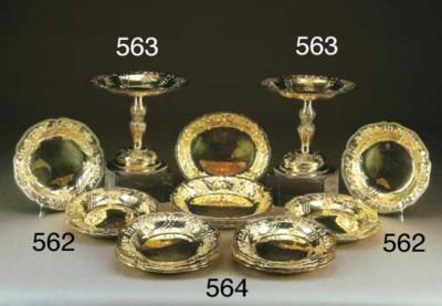 Servizio 12 piatti in argento