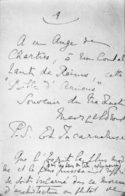 PROUST, Marcel (1871-1922). Be