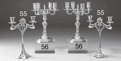 Coppia di candelabri in silver
