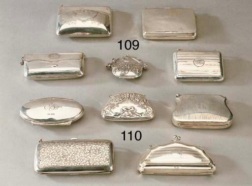 Cinque portamonete in argento,