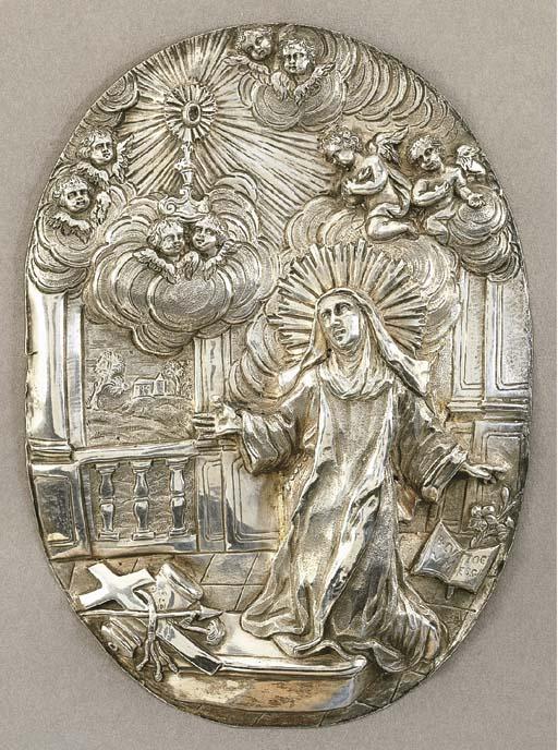 Interessante placca in argento