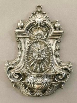 Acquasantiera in argento, Napo