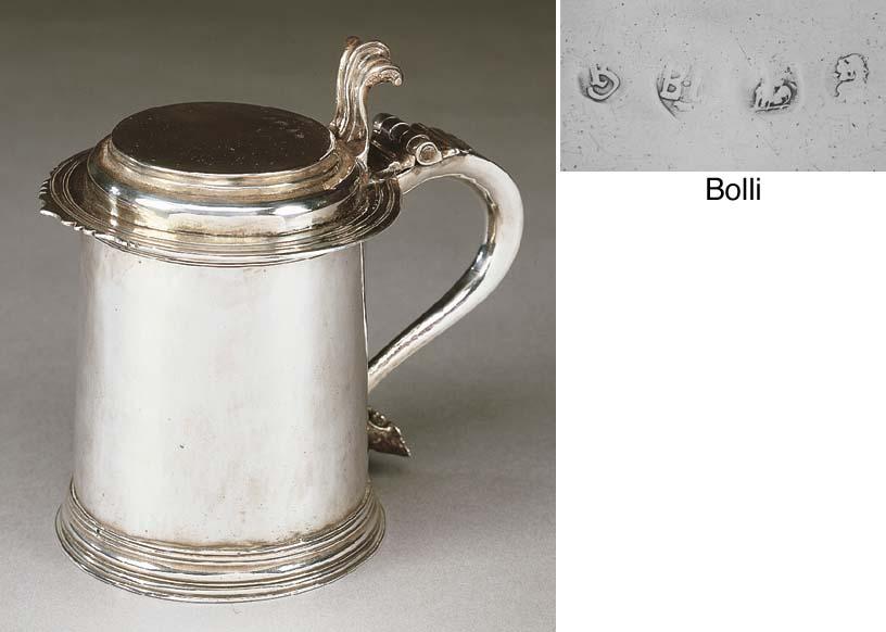Tankard Queen Anne in argento,