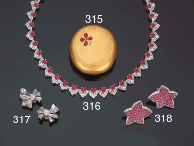 Collana in rubini e diamanti