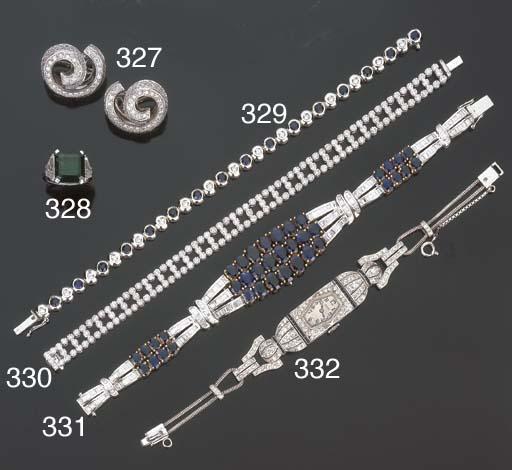 Bracciale in zaffiri e diamant