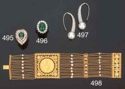 Bracciale in oro e perline col