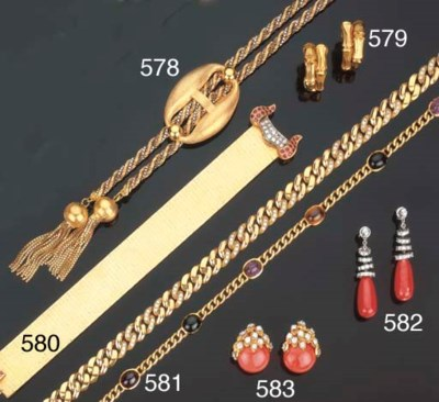 Bracciale in oro con rubini e