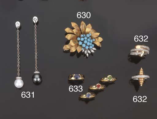 Quattro anelli con rubino, zaf