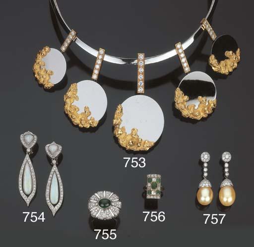 Anello con smeraldi e brillant