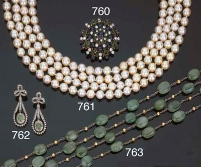 Catena con smeraldi