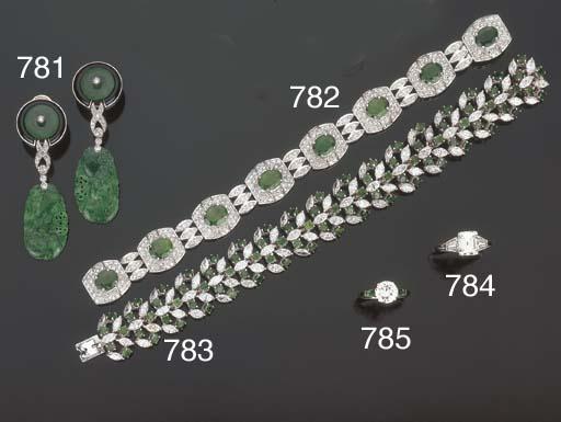 Bracciale in smeraldi e brilla