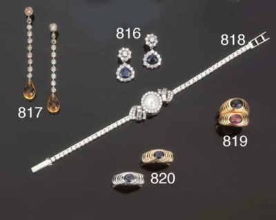 Coppia di anelli con zaffiro