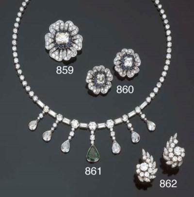 Collana in diamanti e smeraldo