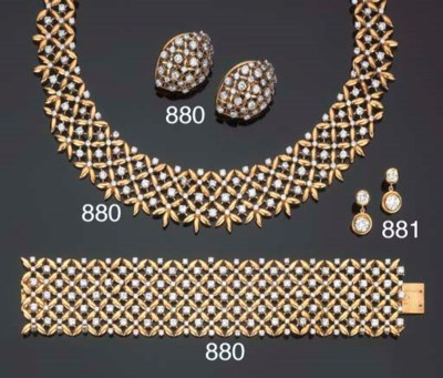 Parure in oro e brillanti, fir