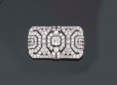 Spilla in platino e diamanti