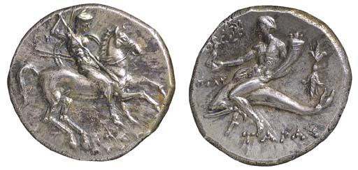 Italy, Calabria, Tarentum (c. 281-272 B.C.), Didrachm, 6