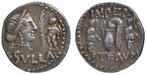 L Sulla (84-83 B.C.), Denarius