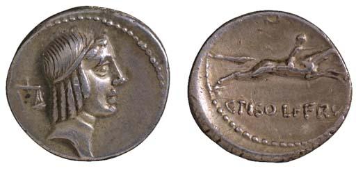 C Piso Frugi (67 B.C.), Denari