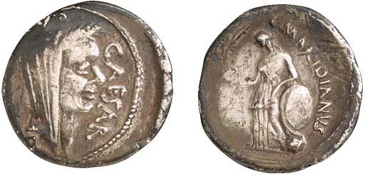 Julius Caesar, Denarius, CAESA
