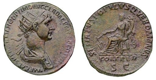 Trajan (98-117), Dupondius, Ro