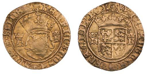 Henry VIII, Crown, 3.07g, Bris
