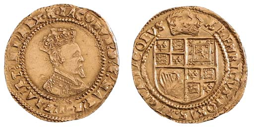 James I, second coinage, (gold
