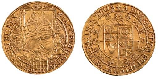 James I, third coinage, Rose-r