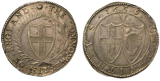 Commonwealth, Crown, 1656/4, m