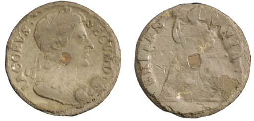 James II (1685-89), tin Farthi