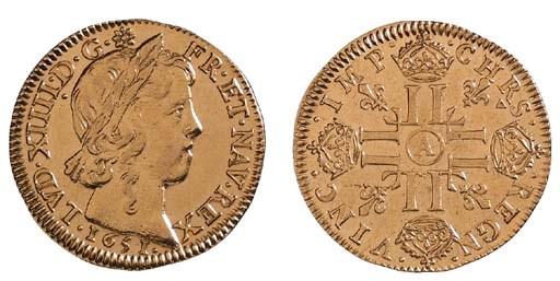 Louis XIV, Louis d'or à la mêc