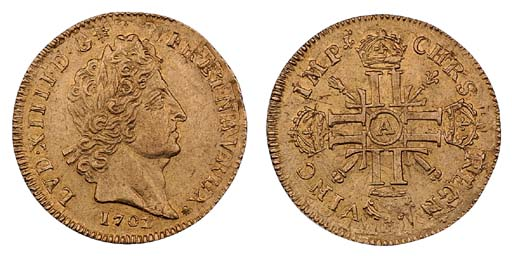 Louis XIV, Louis d'or aux huit