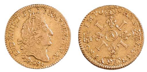 Louis XIV, Half Louis d'or aux